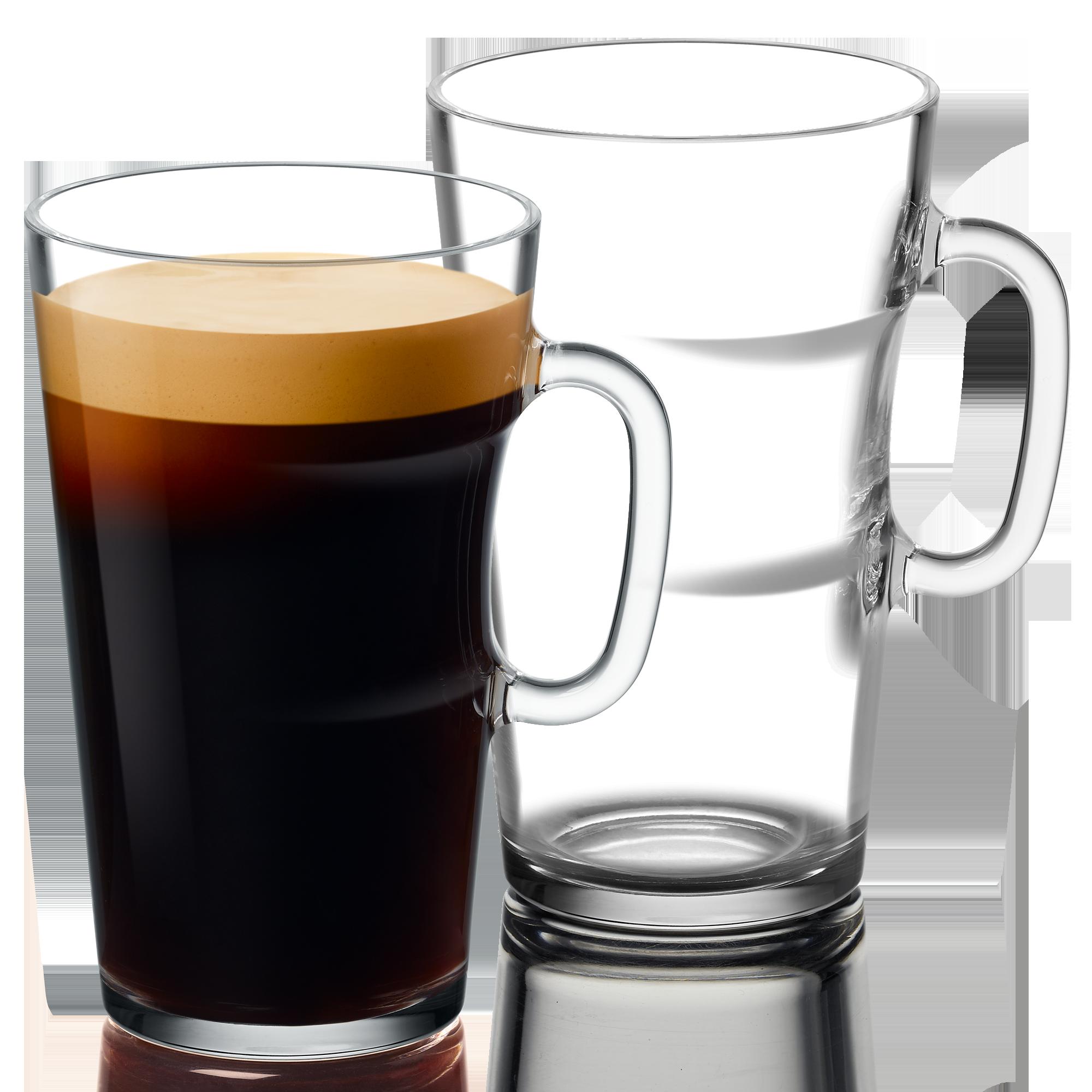 VIEW Alto Becher Set von Nespresso aus 2 Glastassen mit je 550ml